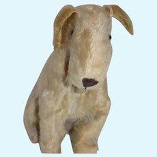 Vintage Mohair Dog Schnauzer Terrier Glass eyes Stuffed Animal