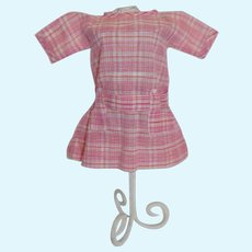 NEW Dollmasters Theriaults  Doll Dress Red Plaid Print  French German