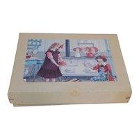 Antique German Doll House Kitchen Set MIB Porcelain