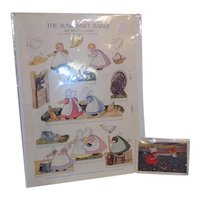 Vintage Uncut Paper Dolls Sun Bonnet baby Babies Post Card