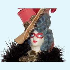 Artist Papier Paper Mache Opera Doll Artist
