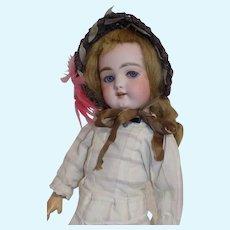 Beautiful Antique German Handwerck 109 Doll Flirty Eyes Cabinet Size