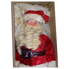 Vintage 1930's Plush Santa Claus Doll Christmas Cloth All Original Mask Face w/ Box