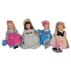 Madame Alexander Little Bo Peep Scarlett Miss Muffet Mary Mary Doll Bent Knee 1960's 70's