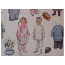 Lettie Lane Antique 1910 Paper Dolls Uncut Chinese Sheila Young Around the World