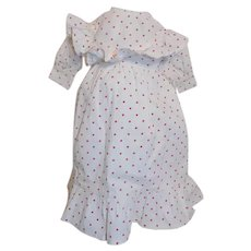 Antique Cotton Dress China Head Parian French German Fashion Doll