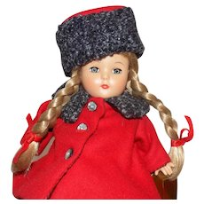 "Effanbee Patricia Kins Doll MIB #V5211 Travel Time 11"" tall"