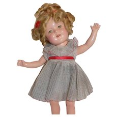 """Vintage 15"""" Ideal Composition Shirley Temple Doll All Original"""