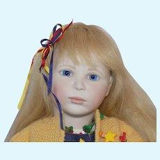 "21"" All Original Lynne and Michael Roche Beth Doll Wood Body #29 Porcelain"
