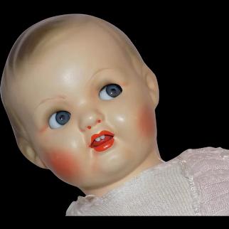 Antique German Flirty Eyed Putz Doll Original Clothes CUTE