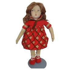 Antique Early Cloth Felt Lenci Doll Series 109 Jump Rope Girl