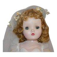 Vintage Binnie Walker Cissy Face Bride Doll All Original