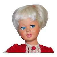 "Vintage Hard Plastic Bonomi Doll Flirty Eyes Original Clothes 16"" Tall"