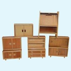 Vintage German Doll House Furniture Danish Wood Caco