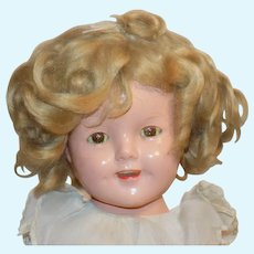 """Pretty Played-with Ideal Shirley Temple 18"""" Composition Doll"""