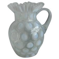 Jefferson Opalescent Glass Coinspot Pitcher