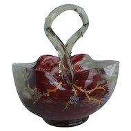 Victorian English Art Glass Basket