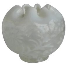 Victorian Opalescent Daisy and Fern Rosebowl