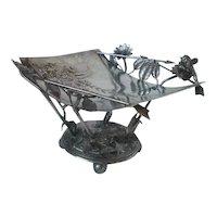 Meriden Victorian Figural Silver Plate Card Receiver Holder Cupid