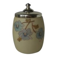 Victorian Smith Brothers Satin Glass Humidor Biscuit Jar