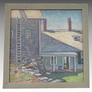 Frederick DETWILLER oil of New Harbor MAINE