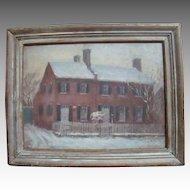 Caroline Van Hook BEAN oil of GEORGETOWN (D.C.) row house
