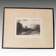 Sir Francis Seymour Haden (1818-1910)  1859 etching with drypoint ON THE TEST