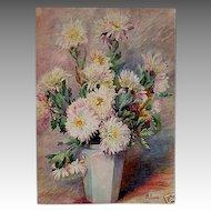 Matilda Van Wyck BROWNE  Old Lyme Group painter ~ still life watercolor SIGNED