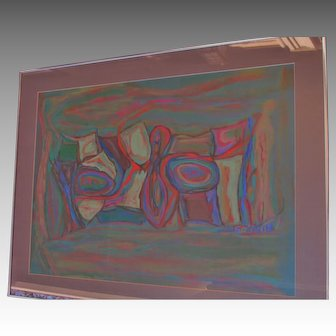 Beatrice ERICSON vibrant abstract painting LISTED NY~ PARIS artist studied Provincetown w/ Morris Davidson