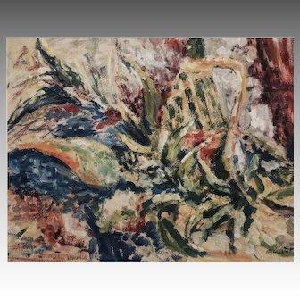 WOODSTOCK painter Alex MINEWSKI large abstract painting