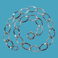 """Vintage Sterling Silver Starter Charm Bracelet 7 3/8"""""""