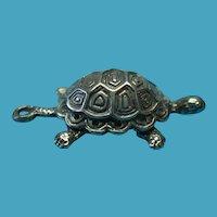 Vintage Sterling Silver Tortoise Charm
