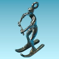 Vintage Sterling Male Water Skier Charm