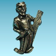 Vintage Figural 1930s Carpenter Brooch Lapel Or Tie Pin