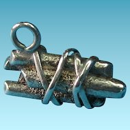 Vintage Sterling Silver 1940s Bundle Of Wood Charm