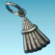Vintage Sterling Silver 1940s Whisk Broom Charm