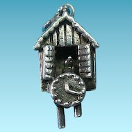 Vintage c1940s Sterling Silver Bird House Charm