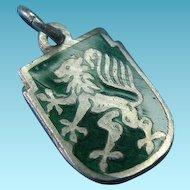 Vintage 900 Silver Enamel Coat Of Arms Shield Charm