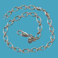 Vintage Sterling Woven Chain Link Bracelet From Bolivia