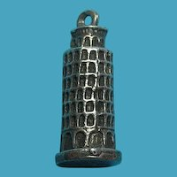 Vintage 800 Silver Leaning Tower Of Pisa Charm