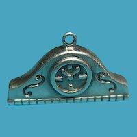 Vintage Sterling Silver Mantel Clock Charm