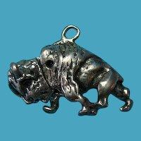 Vintage Sterling Silver Rare Buffalo Charm Head Moves