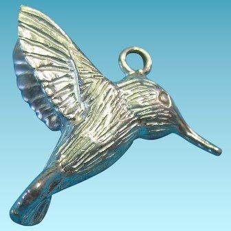 Vintage Sterling Silver Anti-tarnish Hummingbird Charm