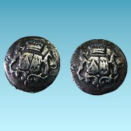 Vintage Metal Buttons Signed Lidz