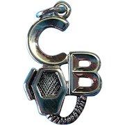 Vintage Sterling Silver CB Radio Charm