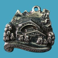 German c1900s Silver Oberammergau Passion Theatre Charm