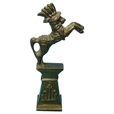 Vintage Brass Circus Horse Statue 1920s