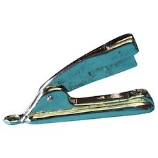 Vintage Sterling Silver Mechanical Desk Stapler 1950s