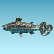 Vintage Sterling Silver Salmon Fish Charm
