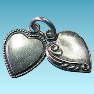 Vintage Sterling Mini Double Heart Charm Set